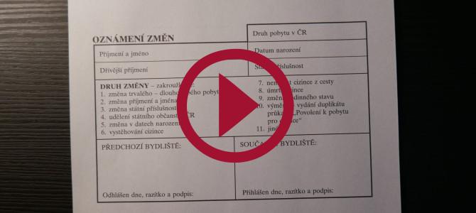 VIDEO___ Cách điền giấy trình báo thay đổi địa chỉ cư trú vv.