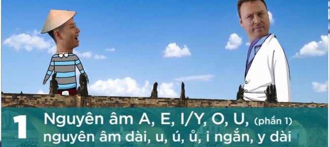 VIDEO___ Giao tiếp bằng tiếng Séc (tập 1): Nguyên âm A, E, I/Y, O, U, nguyên âm dài, u, ú, ů, i  ngắn, y dài.