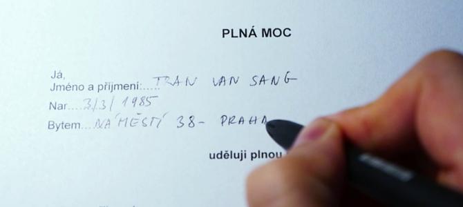 VIDEO___ Cách viết giấy uỷ quyền ra những cơ quan Séc