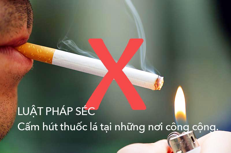 Luật cấm hút thuốc tại Séc từ 31.5.2017